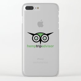Hemp Trip Advisor Clear iPhone Case