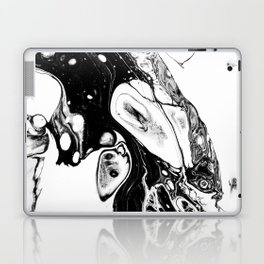 Black and white abstract painting Laptop & iPad Skin