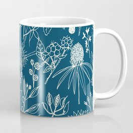 Indigo - Australian - floral - study Coffee Mug