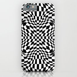 Checkered moire VI iPhone Case
