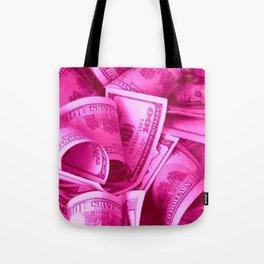 Pink Barbie Benjamins Tote Bag