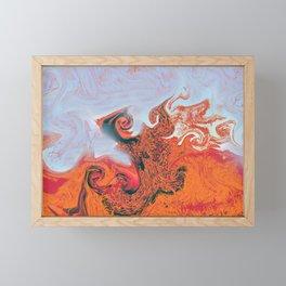 Sea of flames. Framed Mini Art Print
