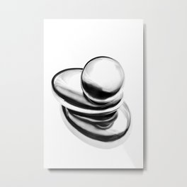 Pebble stack (from metal) Metal Print