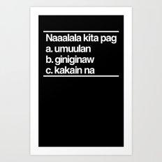 Naaalala Kita Art Print