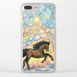 Comet Horse Clear iPhone Case