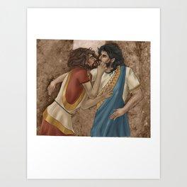 Hasanlu Lovers Art Print