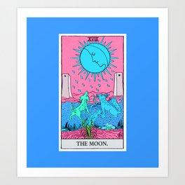 18. The Moon- Neon Dreams Tarot Art Print