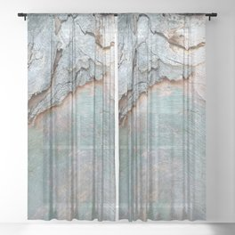 Eucalyptus tree bark texture 11 Sheer Curtain