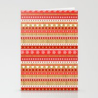 nordic Stationery Cards featuring Nordic Stripe by Faye Maguire Designs