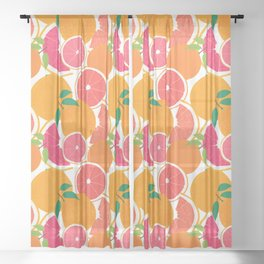 Grapefruit Harvest Sheer Curtain