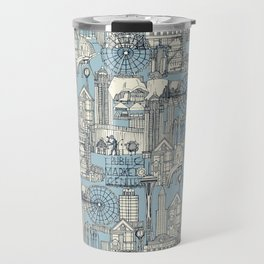 Seattle indigo pale chambray Travel Mug