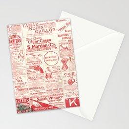 The old newspaper, vintage design illustration Stationery Cards
