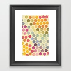 Stamp Dots 2 Framed Art Print