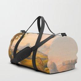 Roraima Mountain Illustrations Of Guyana South America Natural Scenes Hand Drawn Duffle Bag