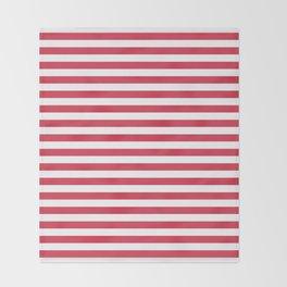 Red white striped Throw Blanket