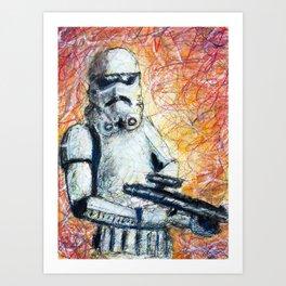 Trooper Scribble Art Print
