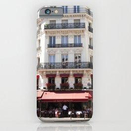 Lunch at Le Saint-Germain iPhone Case