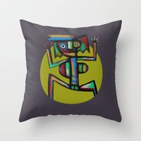 dancer Throw Pillows featuring Dancer by Rudolf Brancovsky