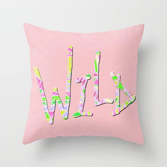 Wild One Four Throw Pillow