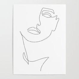Triple Face Line Poster