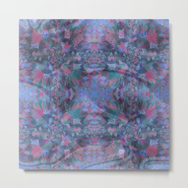 Silk Brocade Texture in Deep Lavender Metal Print
