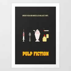Pulp Fiction Minimal Poster Art Print