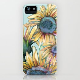 Colorful Pastel Sunflowers iPhone Case