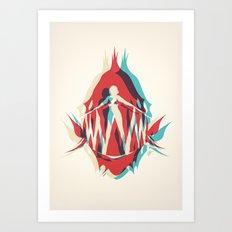 Piranha Girl Art Print
