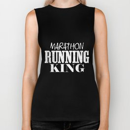 Marathon Running King | Runner Men Man Sports Biker Tank