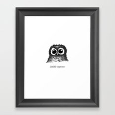 double espresso Framed Art Print