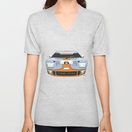Ford GT40 in Gulf Oil livery Unisex V-Neck
