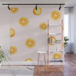 Orange watercolor Wall Mural
