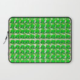 Four leaf clovers and gold horseshoes with green hat that are lucky for some Laptop Sleeve