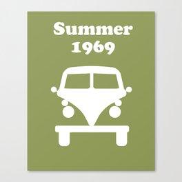 Summer 1969 - Green Canvas Print