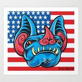 Patriotic Bat Art Print