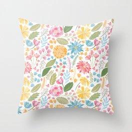 Such Pretty Summer Flowers Throw Pillow