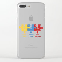Autism Awareness Puzzle Periodic Elements Autistic Behavior Men Women T Shirt Clear iPhone Case