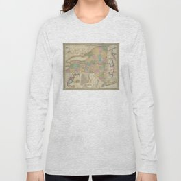 Vintage Map of New York (1835) Long Sleeve T-shirt