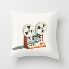 LO-FI GOES 3D - Reel 2 Reel Throw Pillow