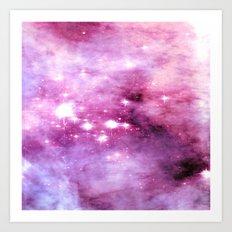 Rose Quartz Lavender Nebula  Art Print