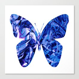 Fluid Butterfly (Blue Version) Canvas Print