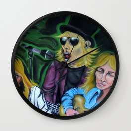 Faces of Tom Petty Wall Clock
