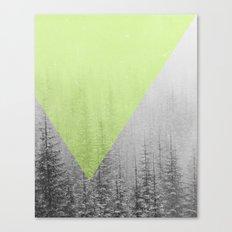 NEON NATURE   Green Canvas Print