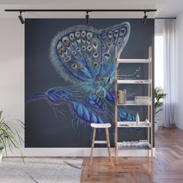 Love Lorn Butterfly-Blue & Navy Palette Wall Mural