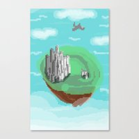 castle in the sky Canvas Prints featuring Sky Castle by wkdowd