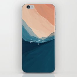 breathe. iPhone Skin