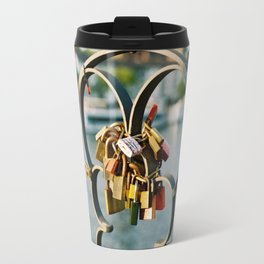 Pile of padlocks Travel Mug