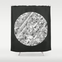 techno Shower Curtains featuring Techno Morning. by RJ Creative