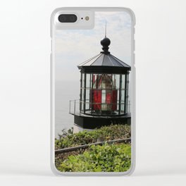 The Red Beacon On Tillamock Bay Clear iPhone Case