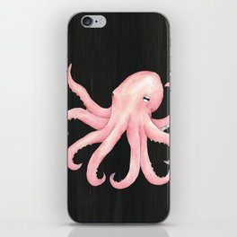 Pink Octopus iPhone Skin